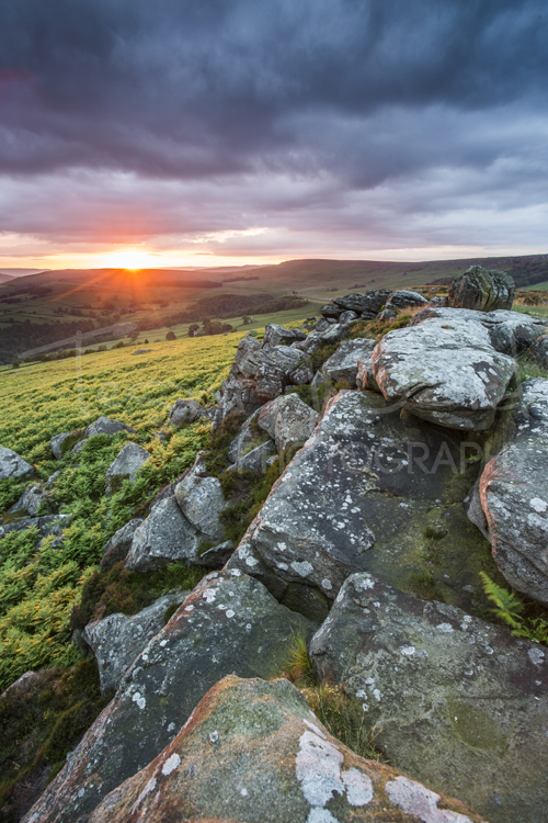 Peak District Photography Workshops Sunset Landscape Carhead Stanage