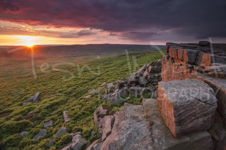 Stanage Edge Peak District Photography Sunset Peak District Photography Workshops