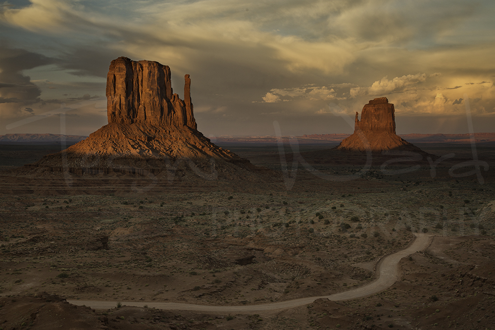 Monument Valley Buttes Sunset