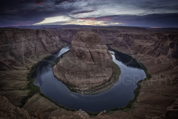 Horseshoe Canyon Sunset Photography